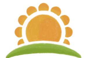 旭ヶ丘保育所園:太陽のロゴ