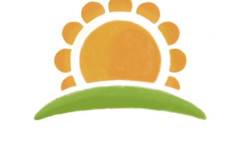 旭ヶ丘保育園 様:太陽のロゴ