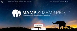 MAMPアプリケーションをダウンロード